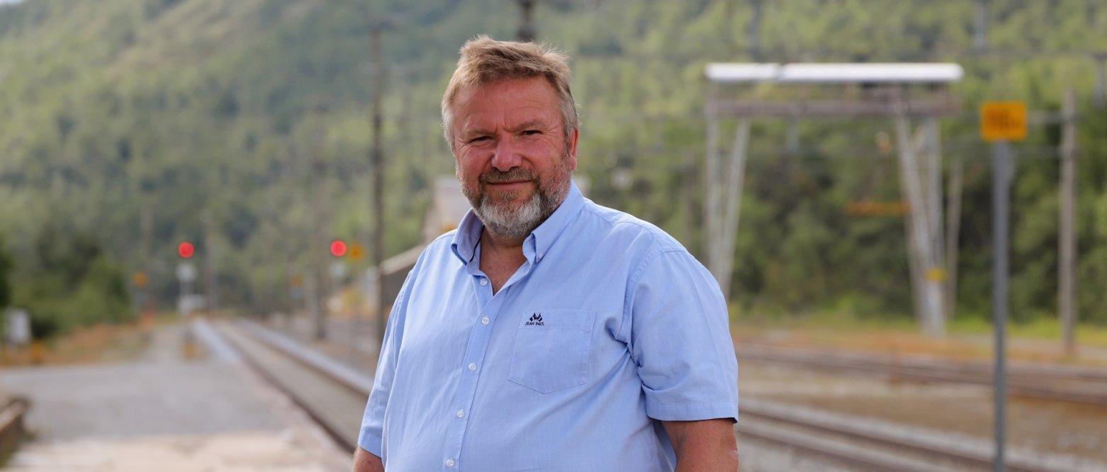 2020 Stortingsrepresentant Bengt Fasteraune (Oppland) på Hjerkinn stasjon