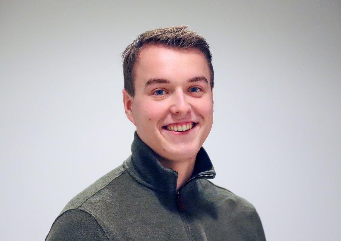 Lars Vegard Fosser er ny politisk praktikant