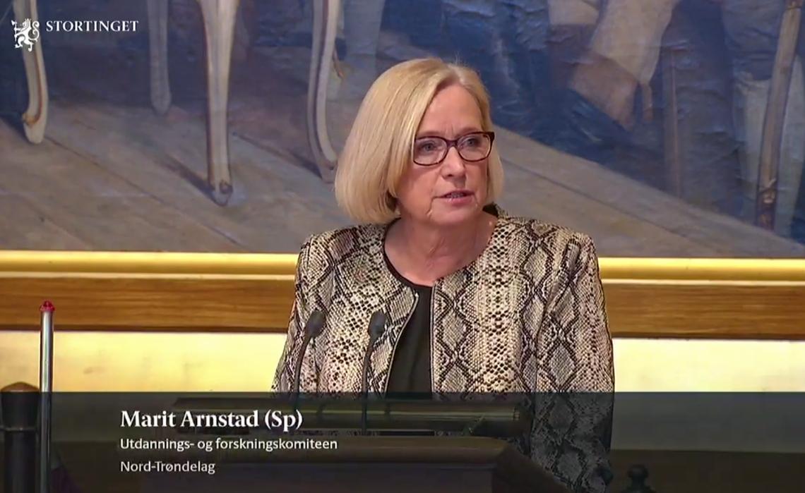 Marit Arnstad i regjeringserklæringsdebatten 30.01.2019