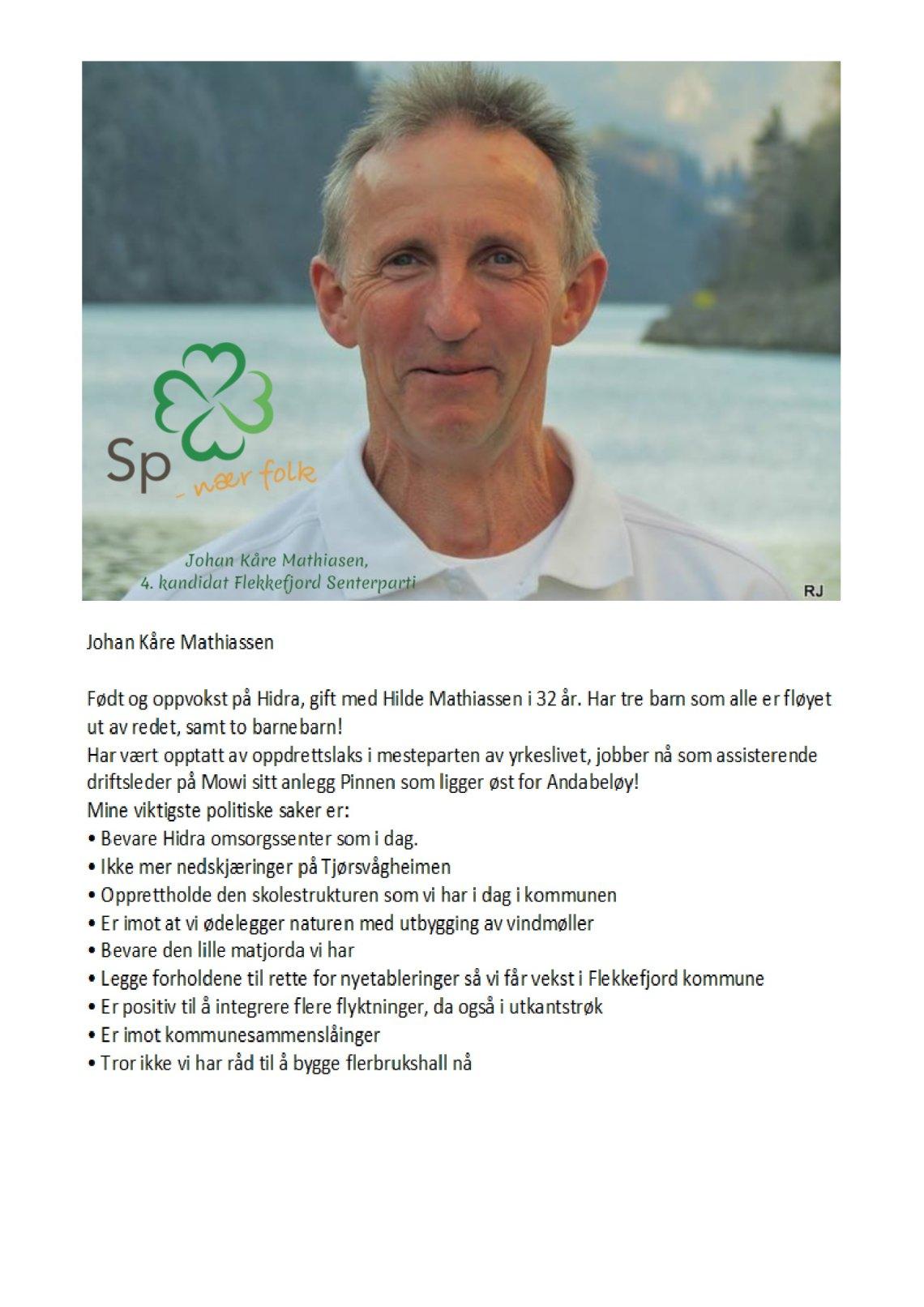 Johan Kåre Mathiassen