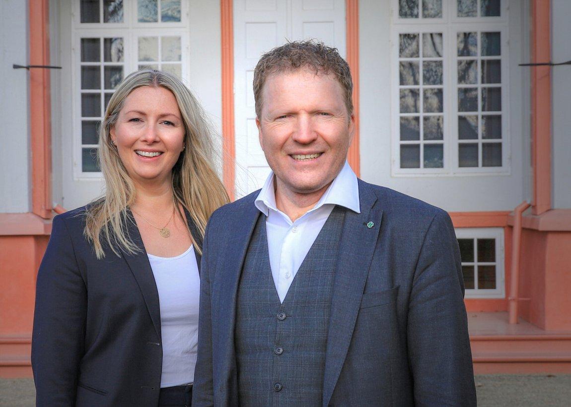 2021 1. kandidat Sigbjørn Gjelsvik og 2. kandidat Else Marie Rødby i Akershus Sp
