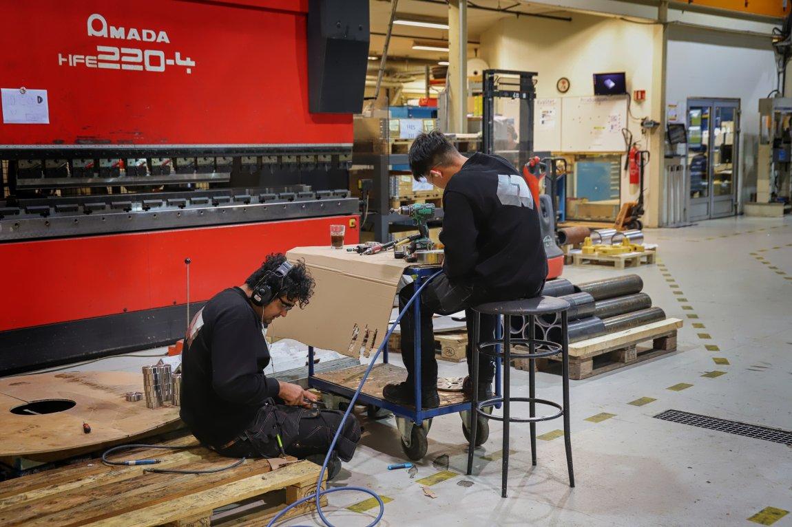 2020 Lærlinger på mekanisk verksted, Stryn, Sogn og Fjordane
