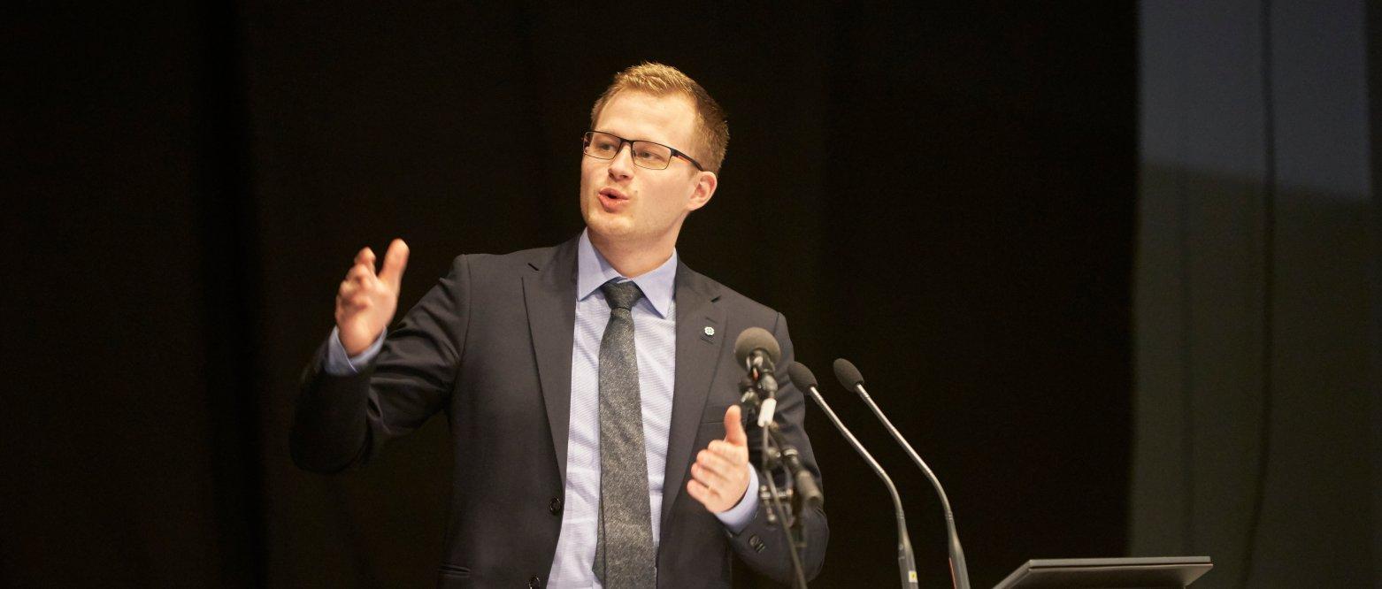 Behandling av tilbudsstruktur, Nordland fylkesting desember 2019, Kim André Haugan Schei, Senterpartiet