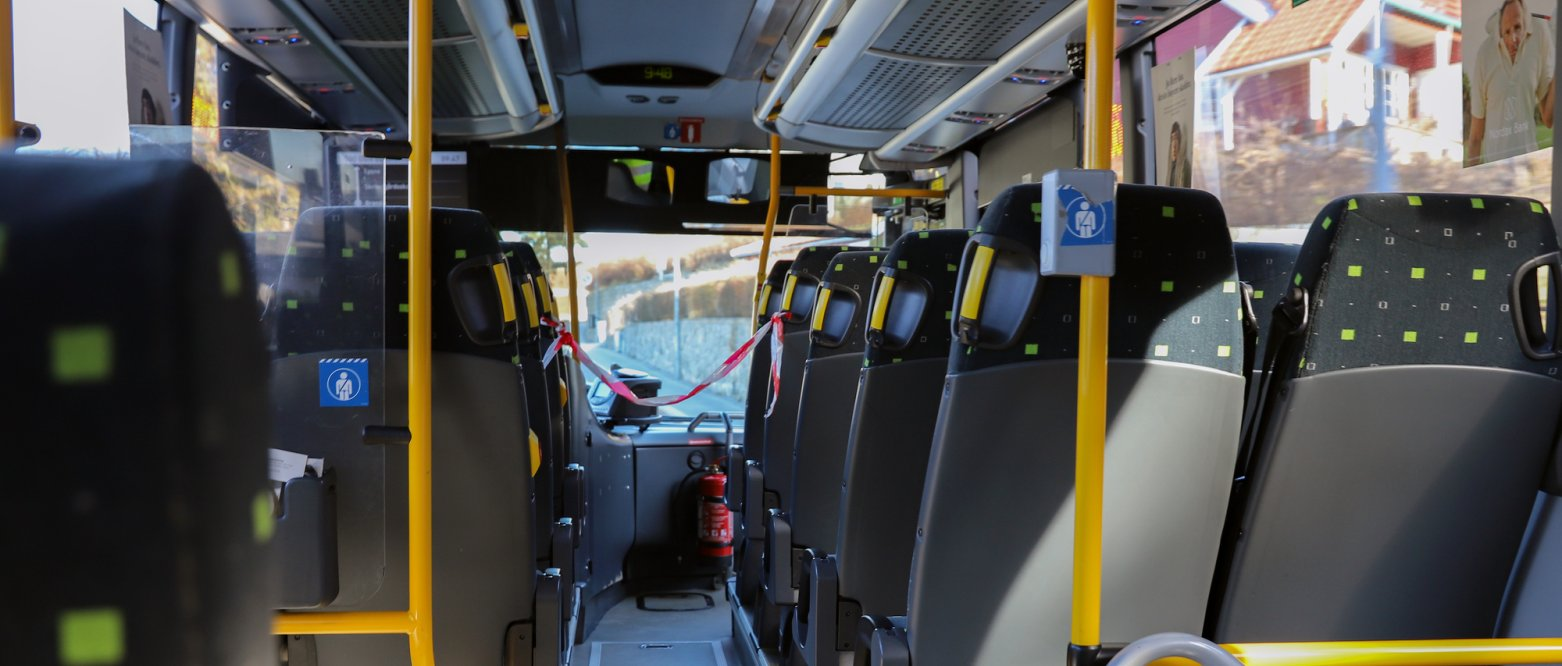 2020 - Folketom buss under koronapandemien