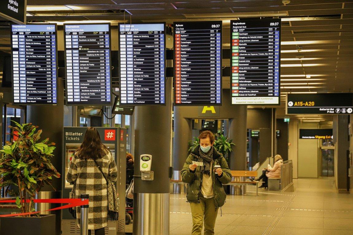 2020 Reisende på Oslo Bussterminal