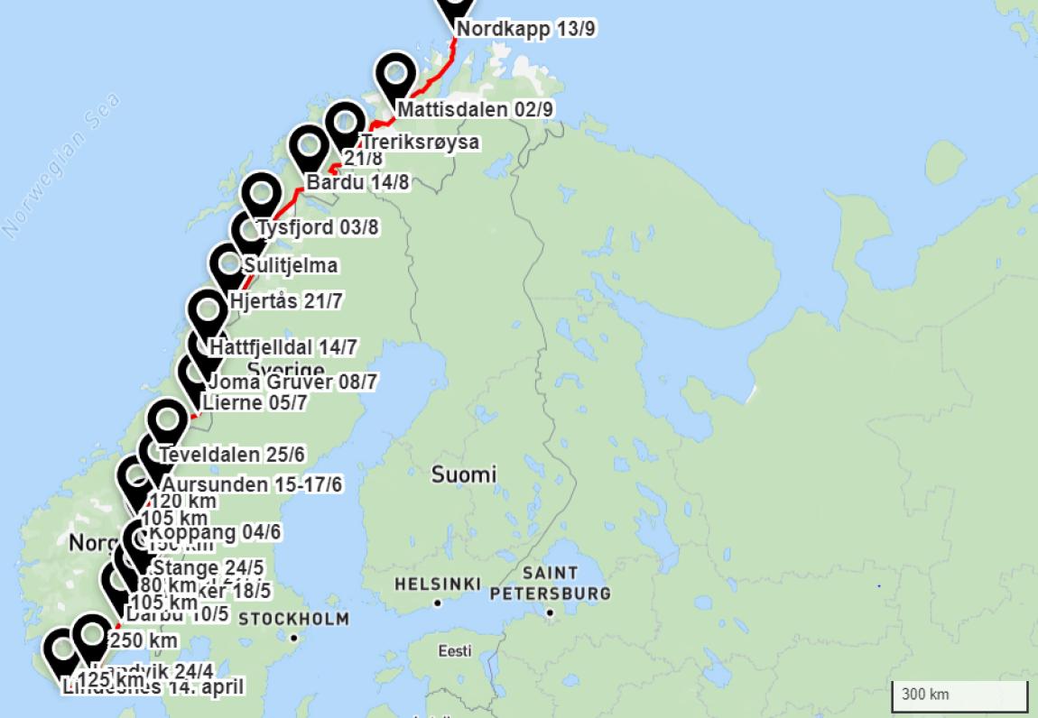 Sp-valgkamp med kløvhest fra Lindesnes til Nordkapp
