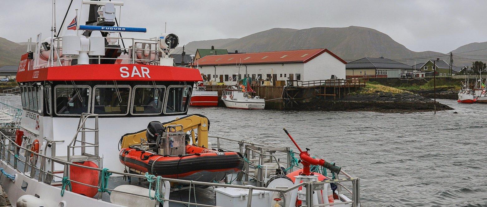 2020 Redningsskøyte ved kai, Sørvær i Hasvik, Finnmark