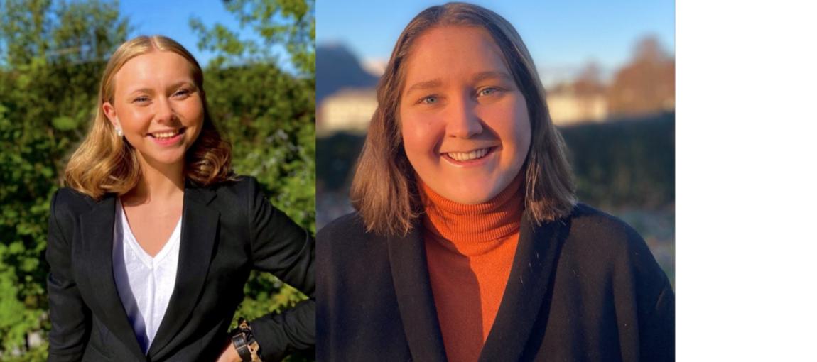 Tina-Evelyn og Signe nye praktikantar i Sp